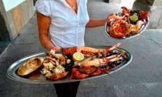 Shellfish supper, in LA CORUNA