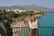 sunburnt and happy in Nerja